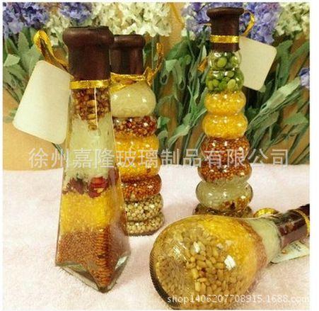 五谷丰登杂粮玻璃瓶创意厨房餐厅酒柜橱柜家居摆件装饰品工艺品图片