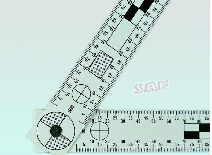 45x18厘米双面黑白PVC折角比例尺