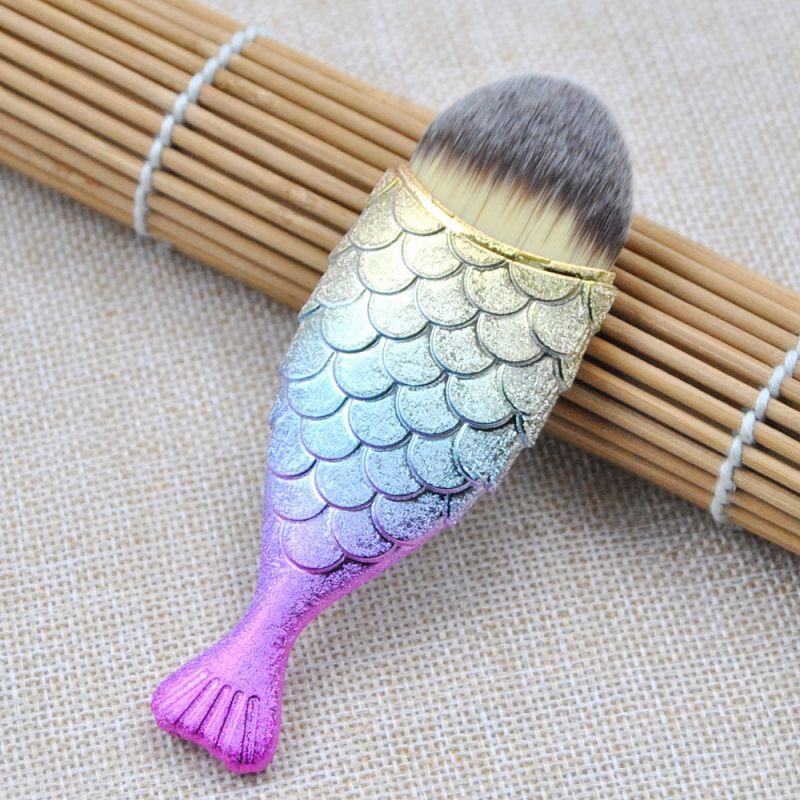 kainuoa/凯诺工厂批发单支美人鱼化妆刷 彩色渐变新款美妆工具
