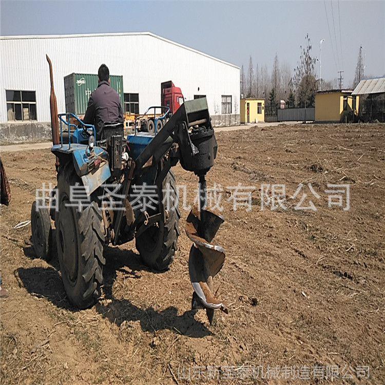 大型四轮拖拉机植树挖坑机 大丰王多功能加厚挖坑机