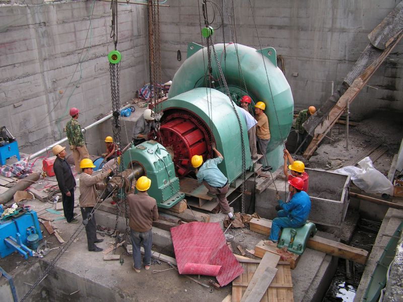 单机容量1.1万千瓦立轴混流式水轮发电机组大修