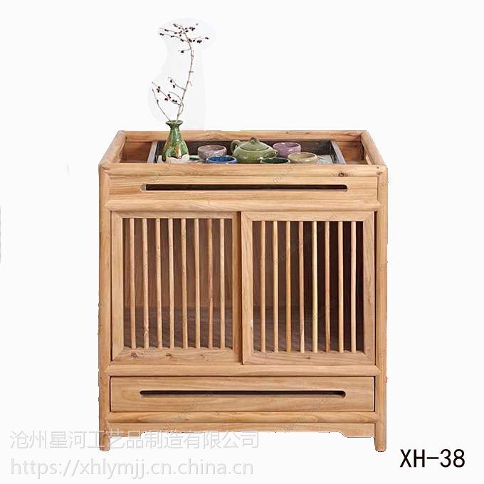 交河老榆木茶水柜实木定做批发