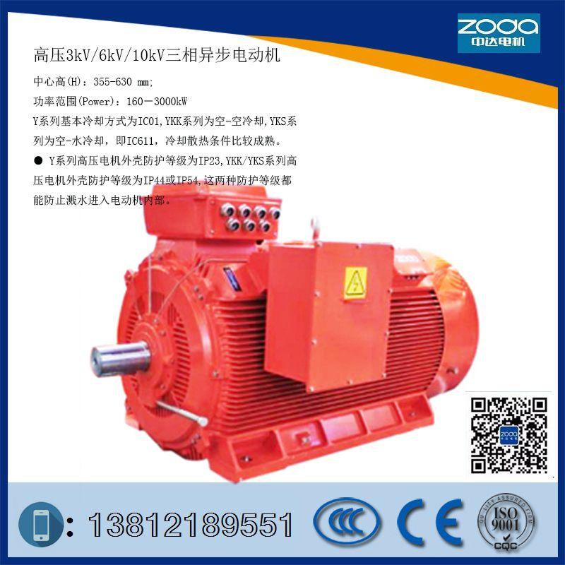 供应高压电机Y2-HV 355-2-185KW 6KV电机ZODA厂家