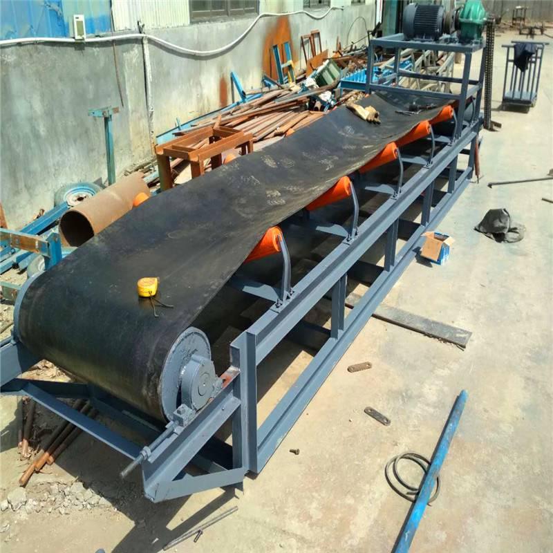 石家庄市 800带宽装车用槽钢皮带机 液压升降双升降型粮食皮带输送机