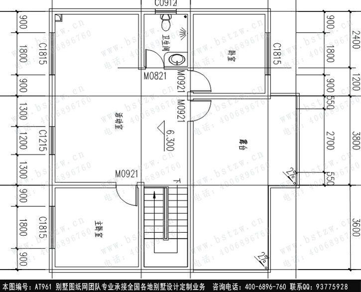 [永云别墅]AT961三层带露台别墅图纸水电结构新城全套v别墅高明西江图片
