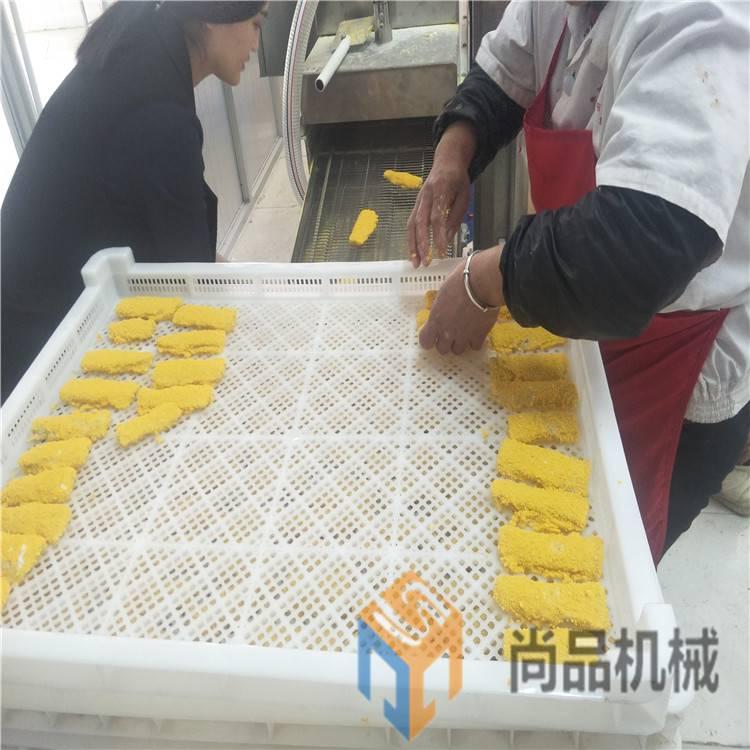 鱼排上面包屑机/肉饼裹糠裹粉设备/雪花鸡柳上糠机