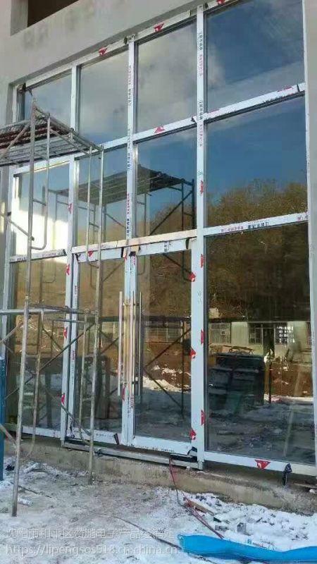 辽宁白钢门,玻璃门,地弹门安装