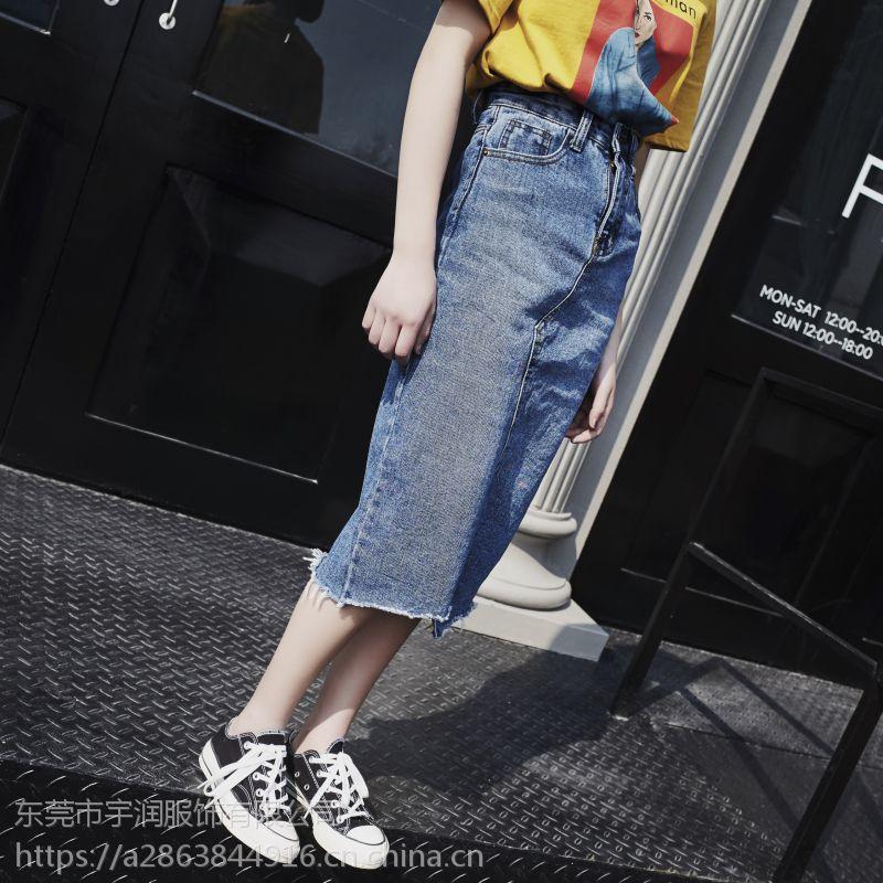 夏季便宜牛仔裙短裤批发半身裙清货5元牛仔短裙清货库存服装批发