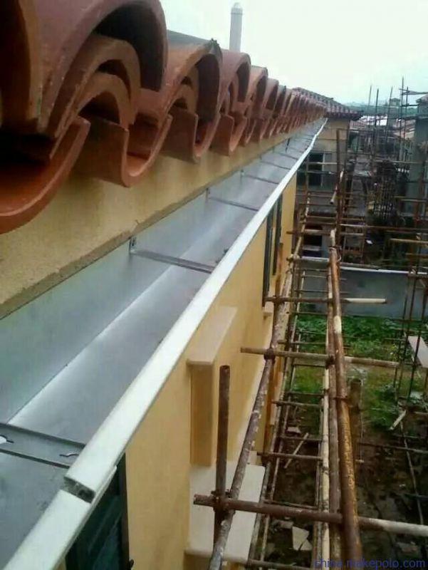 别墅阳光房辽宁铝合金雨水槽排水系统