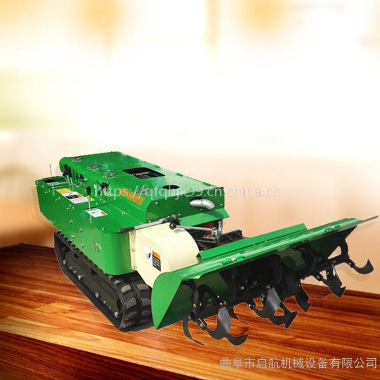 农用履带式拖拉机 启航锄草旋耕机 滑移履带式28马力开沟施肥机