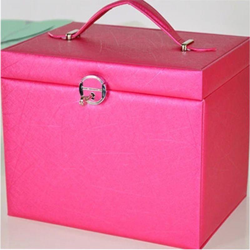 五层皮革大容量抽屉首饰盒化妆收纳盒珠宝首饰多层饰品收纳盒定制