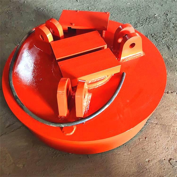 铁水里捞碎铁渣用电磁铁吸盘耐高温700度电磁吸盘