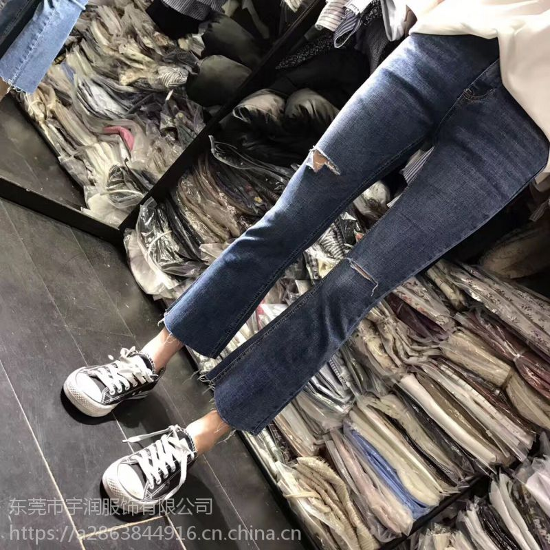 杭州牛仔裤批发夏季新款时尚韩版小脚裤清仓几块钱牛仔裤批发