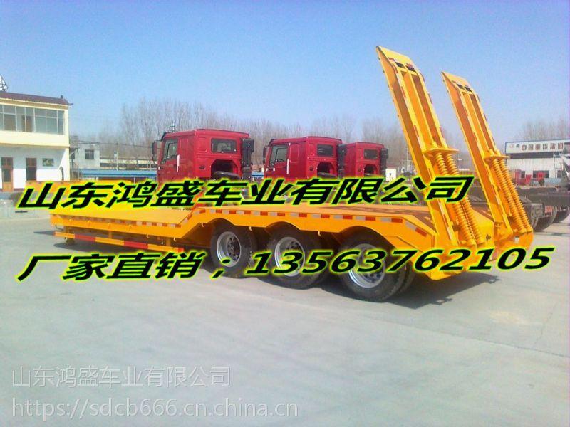 三桥10.5米13.75米低平板半挂车价格配置表(***新款)