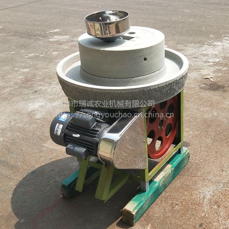 商用电动豆浆石磨 米浆肠粉石磨机 绿色环保磨浆机