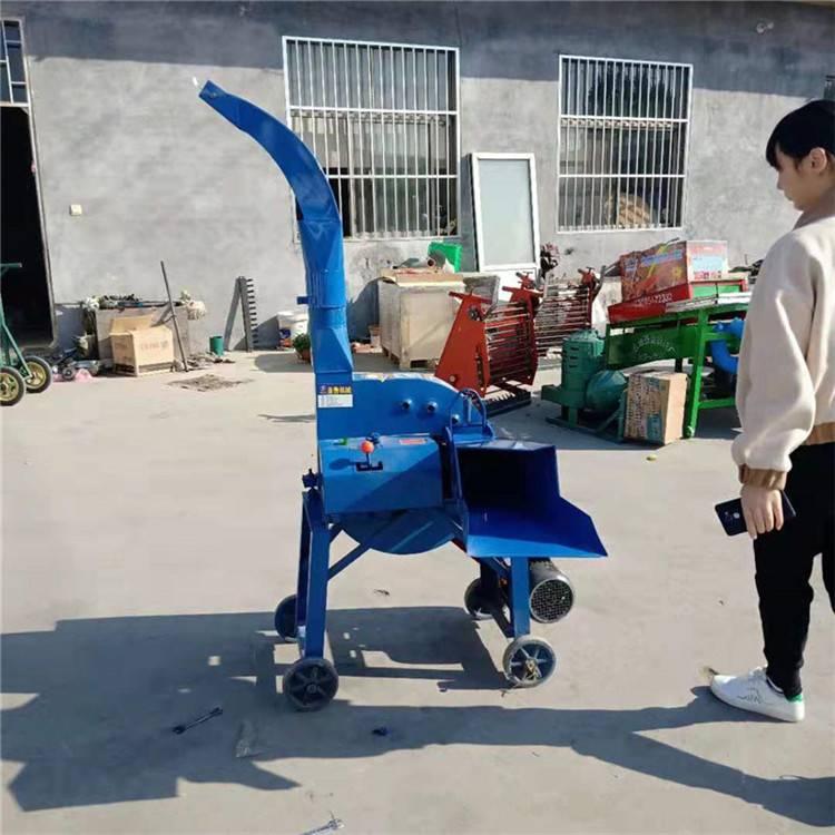 黑龙江家用型铡草机 小型高喷式铡草机 圣鲁机械