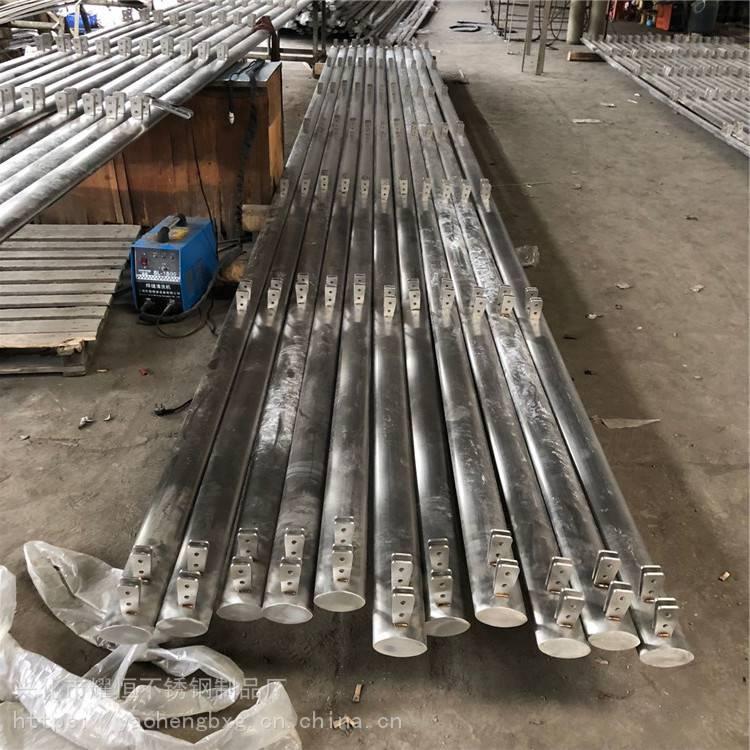 耀恒 不锈钢楼梯栏杆/护栏夹玻璃栏杆立柱/阳台工程立柱1050