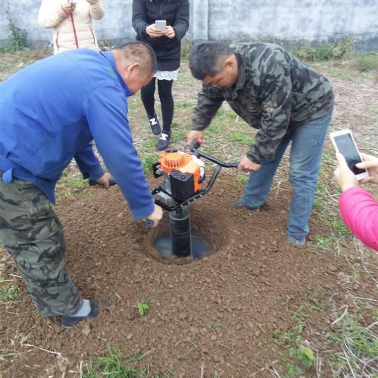 小型汽油挖坑机 手提葡萄架立柱机 圣鲁打眼机
