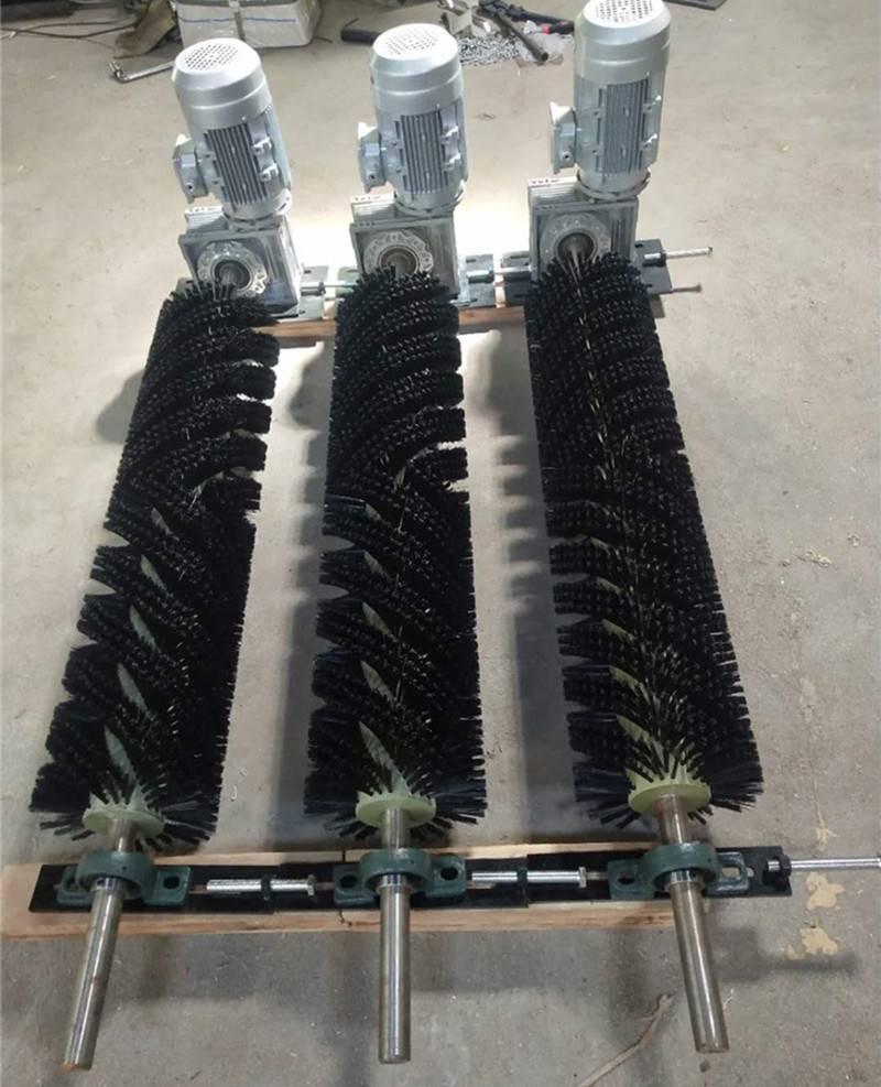 天德立矿用皮带电动滚刷清扫器 井下用防爆型电动毛刷清扫器