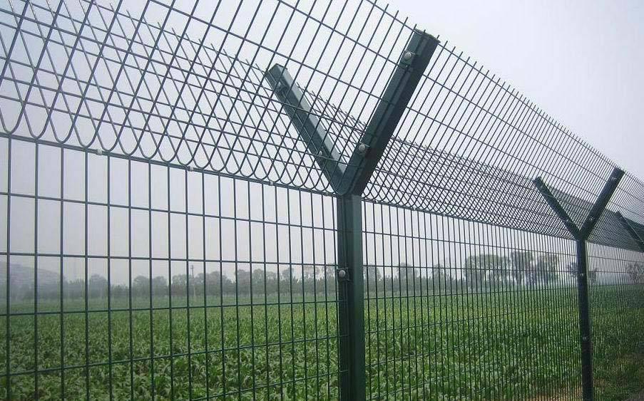 海南Y型防护网防御网定制 惠州电厂隔离网 少儿管教所护栏