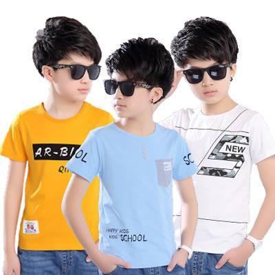 3块童装纯棉短袖T恤 分号 几百个花色可混发