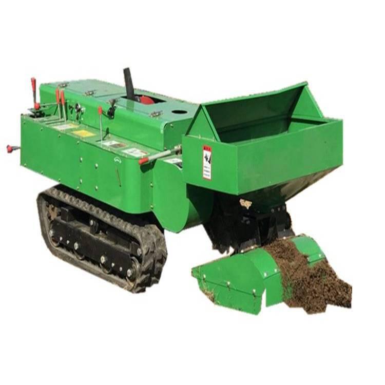 履带施肥除草机图片 自走多功能施肥除草机规格 润丰