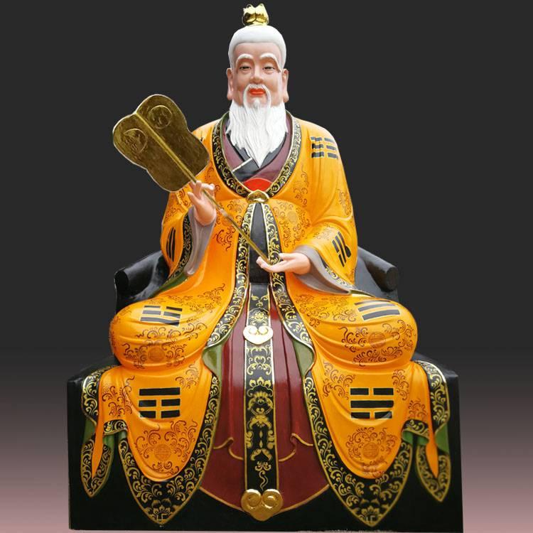 【河南云峰佛像雕塑厂 1.8米太上老君 三清 太