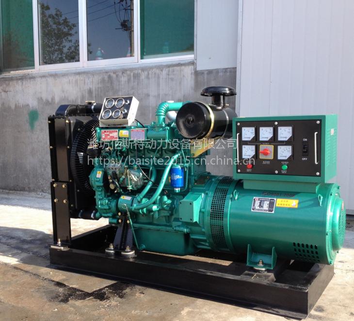 潍柴分厂60kw千瓦柴油发电机组 家用自启动三相380V全铜水冷电机