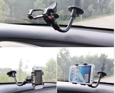 乐迪讯车载支架 鹅颈软管双夹磁吸车载吸盘导航仪手机支架