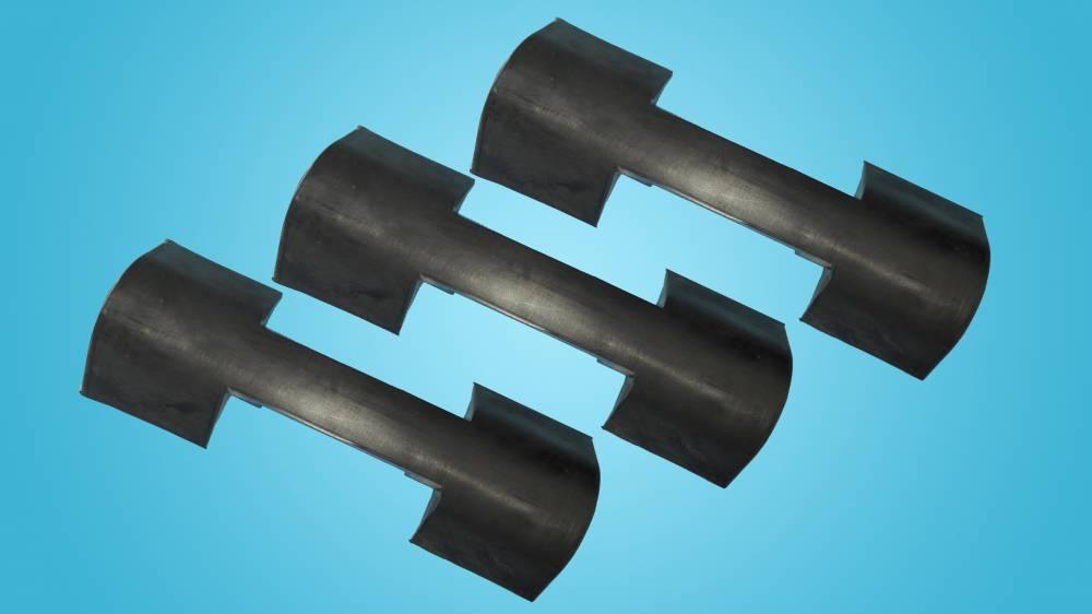 架空乘人装置抱索器衬垫衬皮采用橡胶材质制成橡胶聚氨酯加工厂