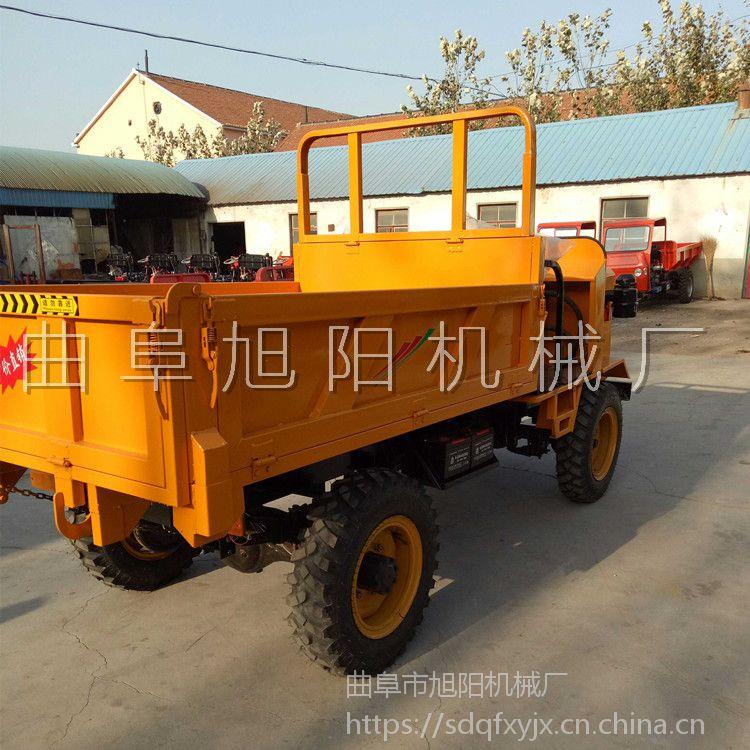 新款直销轴传动柴油四轮车工地载物运输车大马力自卸工程车载重3吨