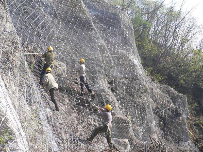 优质边坡绿化防护网 山坡防护网 岩石坡防护网供应 兜山网