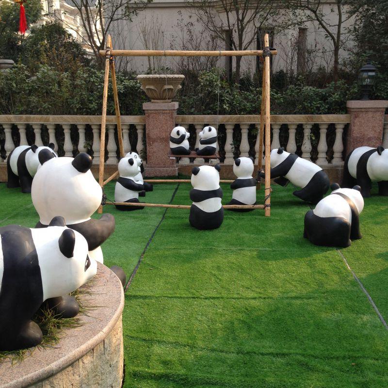六一儿童节熊猫乐园熊猫卡通模型租赁出售