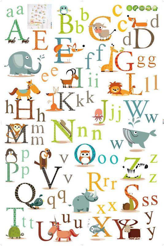 �y�,y/'�i)��9�ay.�_供应ay877儿童学英语26个英文字母可移除墙贴 厂家直销 60*90cm