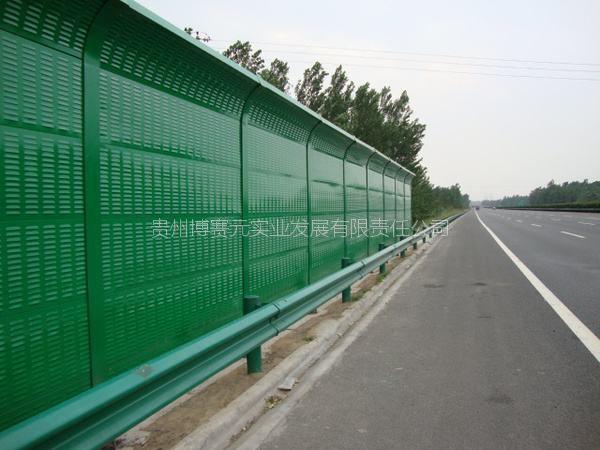 贵州公路铁路声屏障、岩棉环保降噪彩钢声屏障隔音墙规格齐全