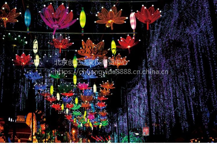 大型梦幻灯光节造型广场园区景区街道户外灯光场景亮化灯展凤凰定制