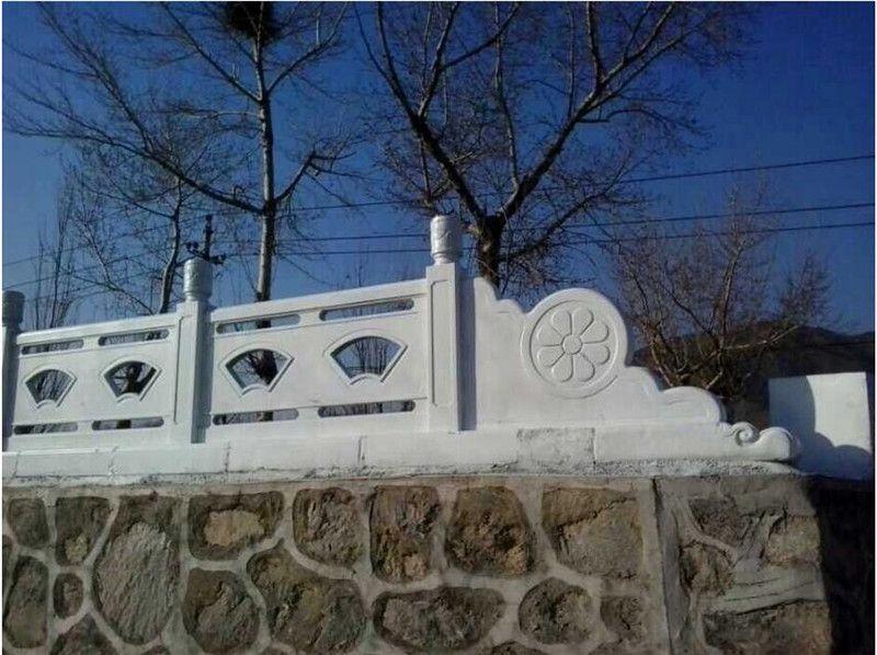 水泥仿石艺术栏杆加工 水泥仿木栏杆供应商
