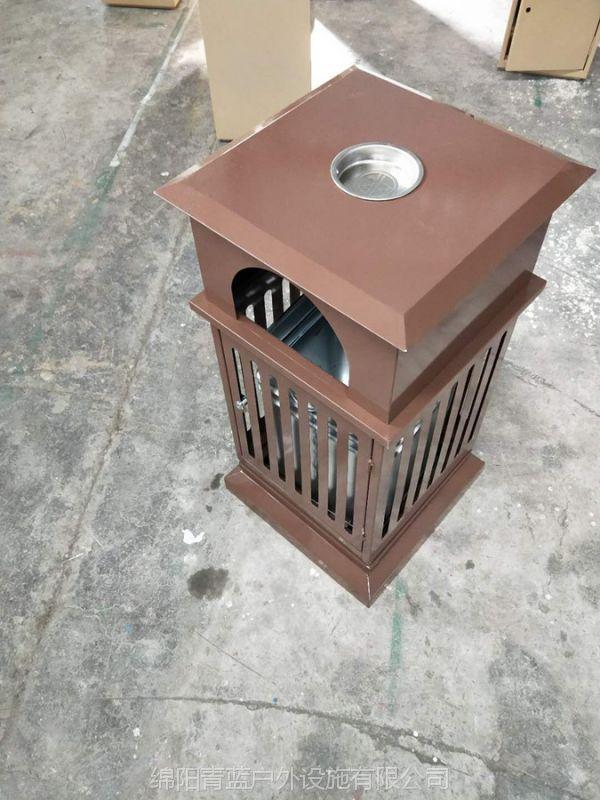 青蓝定制雕刻古典垃圾 单桶果皮箱 个性垃圾桶