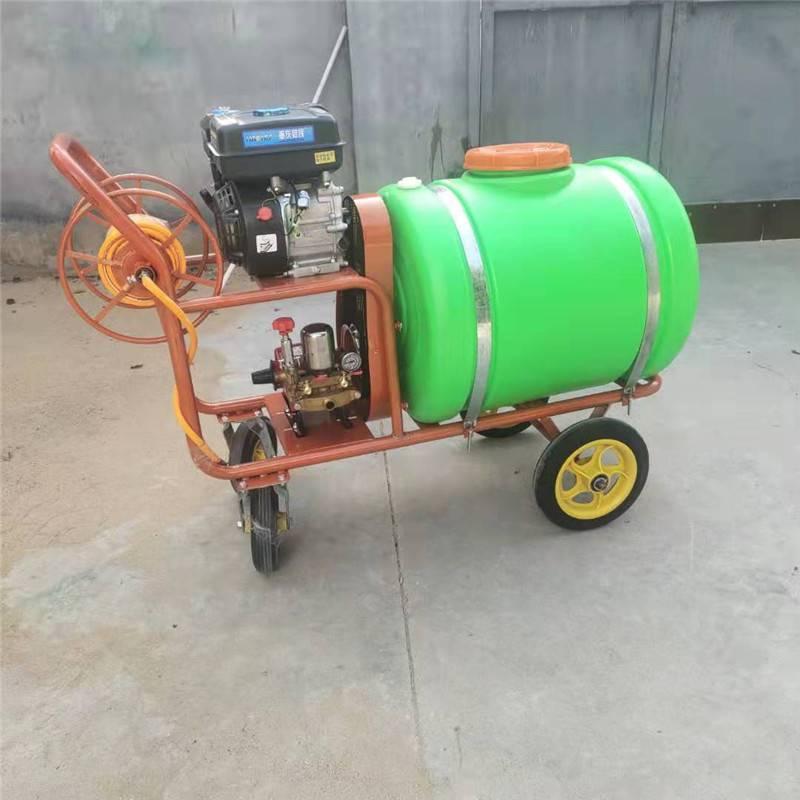 供应四轮自动回管打药机 普航担架式打药机 远程高压拉管式喷药机报价