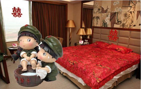 革命爱情为爱奋斗给老婆洗脚结婚婚庆娃娃礼品礼物摆件图片