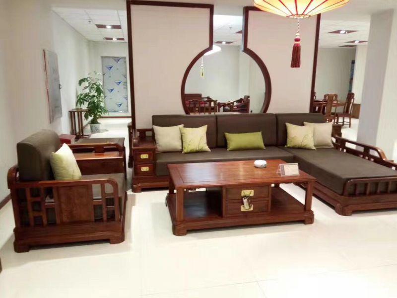 中山市红木新中式沙发6件套的厂家 名琢世家家具厂