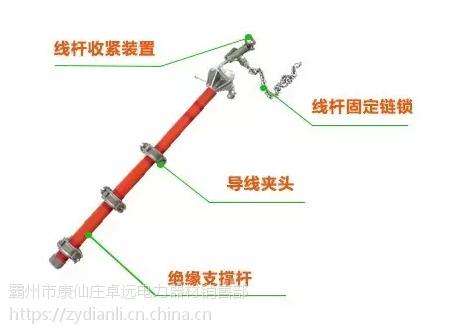 电杆临时横担 带电作业绝缘横担 绝缘支线 多功能组合万齐