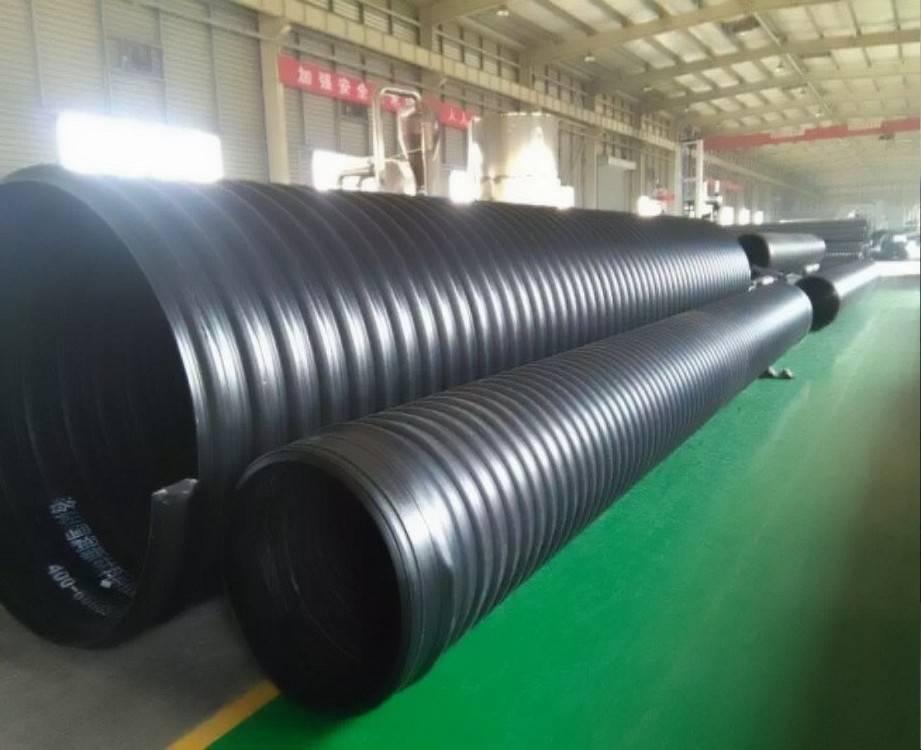 厂家直销黑色排水排污市政用hdpe钢带增强螺旋波纹管