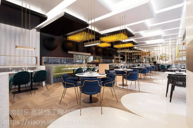2018昆明每个细节都很时髦的餐厅,装饰公司装修案例!
