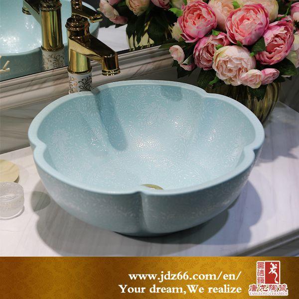 陶瓷艺术盆厂家 台上陶瓷洗脸盆