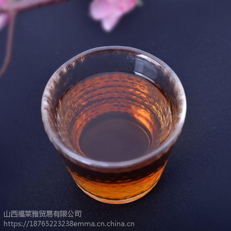 小茶杯便宜批发 迷你水杯酒杯 可定制花纹 彩色玻璃茶具