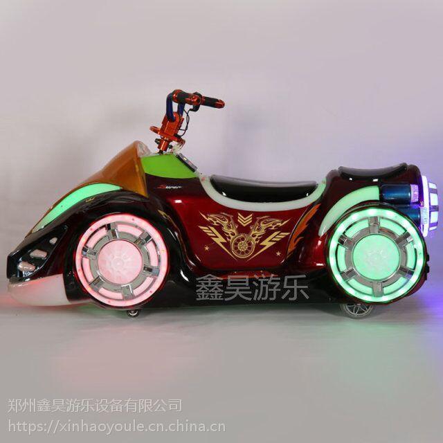 儿童炫酷幻影摩托车广场彩灯玩具遥控车亲子发光儿童电动车