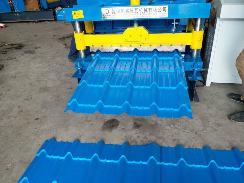 琉璃瓦压板机 铁皮屋顶板820仿古琉璃瓦机 地鑫机械设备