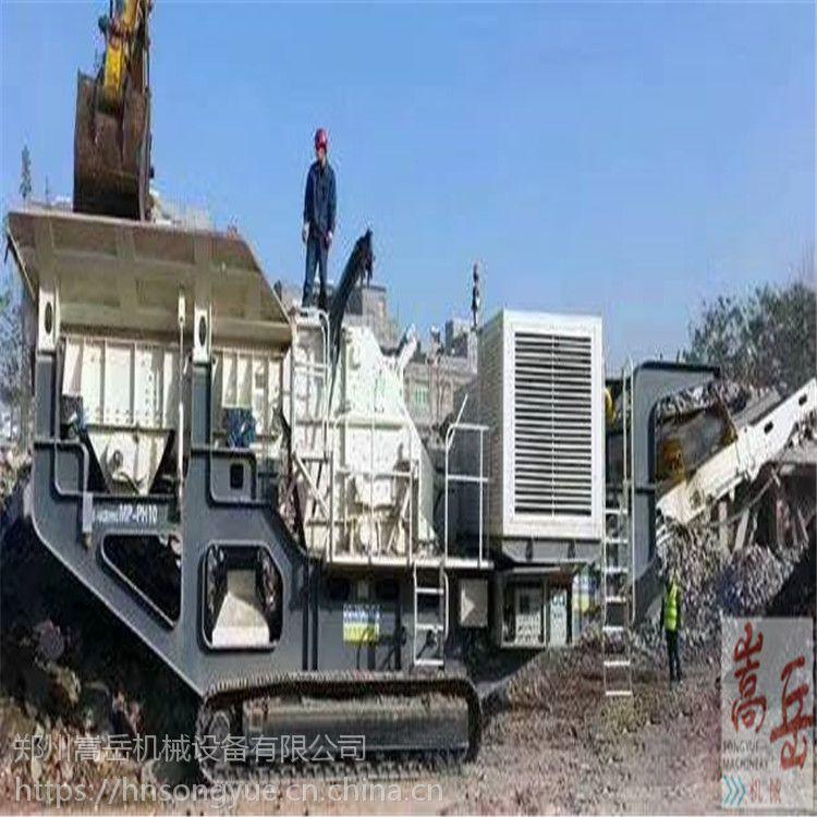 新疆砂石破碎成套设备 鄂破移动站 建筑垃圾处理 移动式破碎车