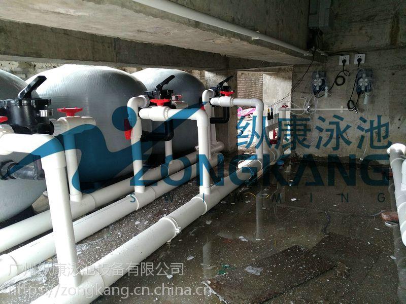酒店室内外泳池_酒店水景观水处理_广州纵康钢结构泳池